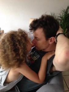 heel soms plakt ze ook aan haar papa vast