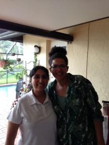 Romina en ik.  Miami, 9 augustus 2015