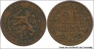 2 1/2 cent van Curaçao