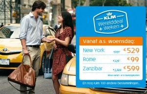 KLM Wereld deal weken