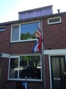 de vlag hing uit