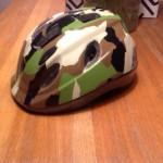 haar nieuwe stoere helm