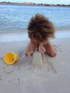 Mijn dochter haar haar. Prachtige krullen; jaloersmakend.